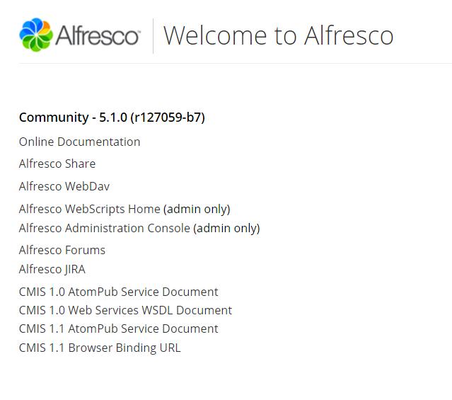 Community alfresco admin